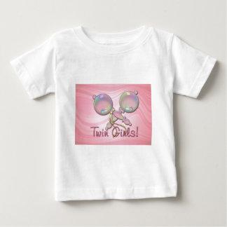 IT'S TWIN GIRLS BABY RATTLE by SHARON SHARPE Baby T-Shirt