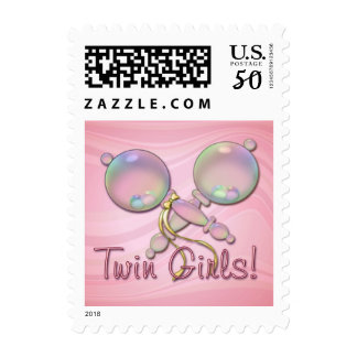IT'S TWIN GIRLS BABY RATTLE by SHARON SHARPE Postage
