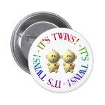 It's twins! 2 inch round button