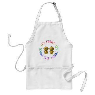It's twins! adult apron