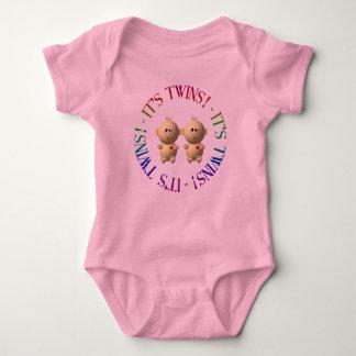 It's twins! baby bodysuit