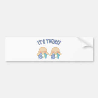 ITS TWINS (Boy Boy) Bumper Sticker