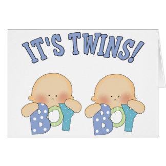 ITS TWINS (Boy Boy) Card