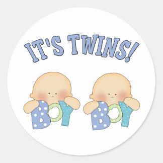 ITS TWINS (Boy Boy) Classic Round Sticker
