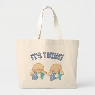 ITS TWINS (Boy Boy) Large Tote Bag