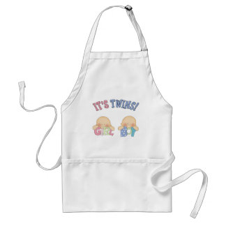 ITS TWINS (Boy Girl) Adult Apron