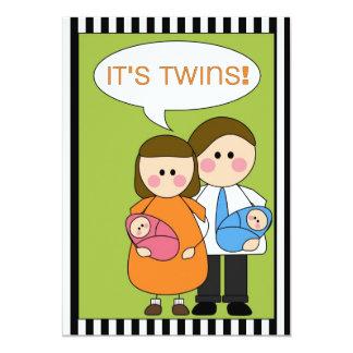 it's twins! (boy/girl) announcement