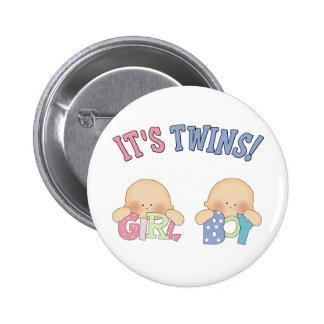 ITS TWINS (Boy Girl) Button