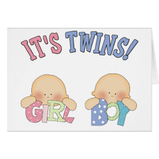 ITS TWINS (Boy Girl) Greeting Cards