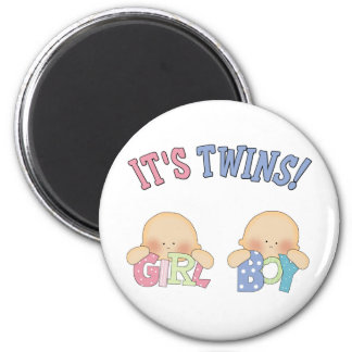 ITS TWINS (Boy Girl) Magnet