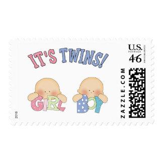ITS TWINS (Boy Girl) Postage
