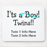 Its Twins (Boys) Mouse Pad