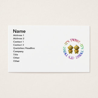 It's twins! business card