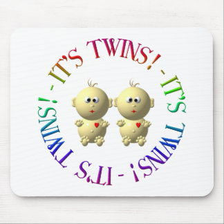 It's twins! mouse pad