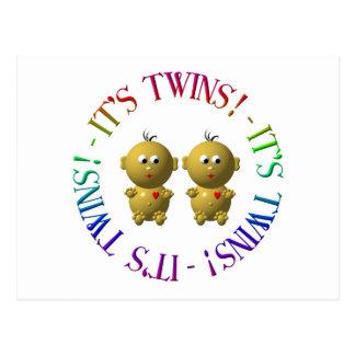 It's twins! postcard