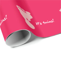 It's Twins Rose Footprints Wrapping Paper