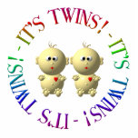 """It&#39;s twins! statuette<br><div class=""""desc"""">This design is perfect for pregnancy or birth announcements,  birthdays,  special occasions and so much more!  Feel free to add your own names,  dates,  and other information!</div>"""