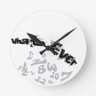 It's Watever Time Analog Wall Clock