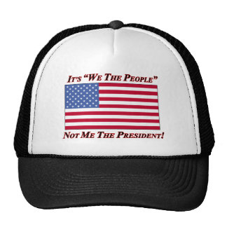 It's We The People Not Me The President Mesh Hat