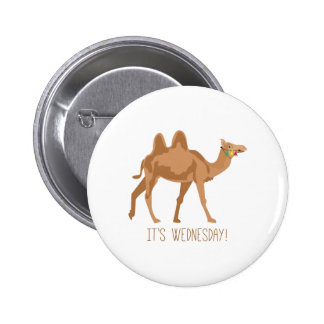 Its Wednesday Pinback Buttons