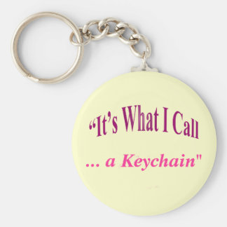 """""""It's What I call ..."""" Basic Round Button Keychain"""