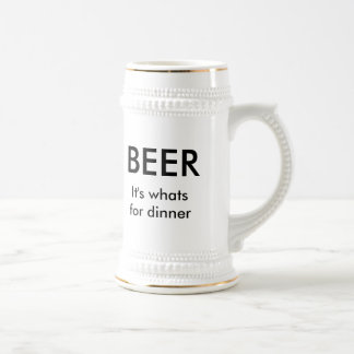 It's whats for dinner beer stein