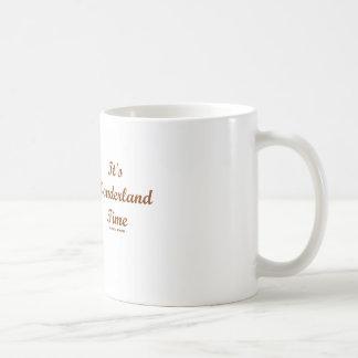It's Wonderland Time White Rabbit With Trumpet Coffee Mug
