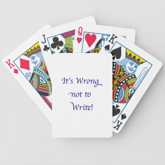 It's Wrong not to Write Bicycle Playing Cards