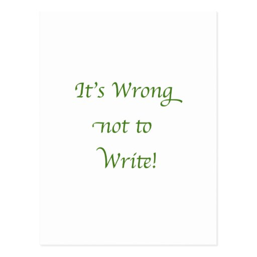 It's Wrong not to Write Postcard