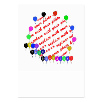 It's your Birthday! Birthday Balloons Photo Frame Large Business Cards (Pack Of 100)