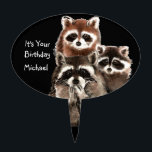 "It&#39;s Your Birthday with Raccoons Cute Animal Cake Topper<br><div class=""desc"">Cake topper to customize  Raccoons Cute Animal Watercolor</div>"