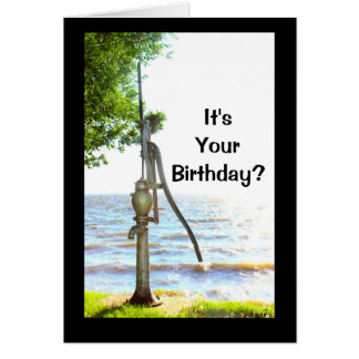 It's Your Birthday? You Must Be So Pumped! Card