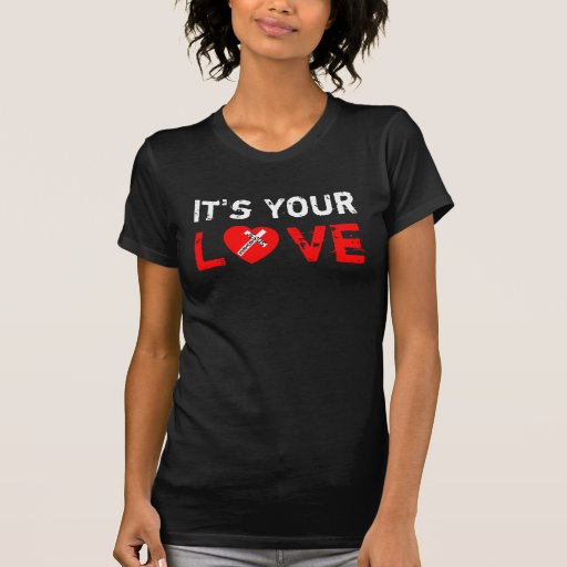 It's Your Love Tricot - Jesus Saves (Heart) Tee Shirt