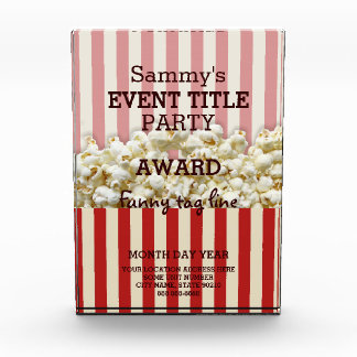 It's Your Party Personalized Popcorn Style Award