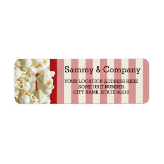 It's Your Party Personalized Popcorn Style Return Address Label