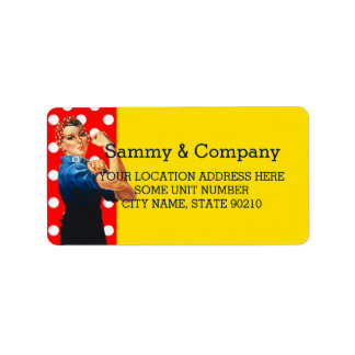 It's Your Party Personalized Rosie Style Address Label