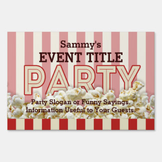 It's Your Party Signage Personalize This!