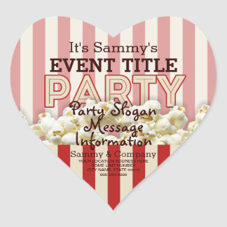 It's Your Personalized Party Supply. Heart Sticker