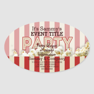 It's Your Personalized Party Supply. Oval Sticker