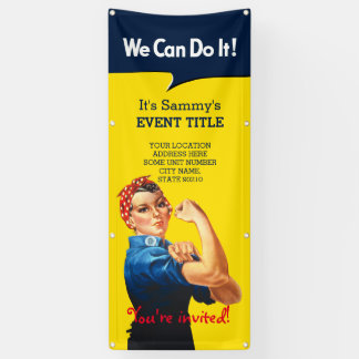 It's Your Personalized Rosie Event Vertical Banner