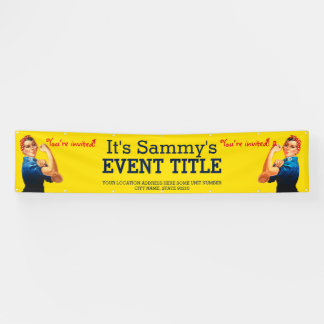 It's Your Personalized Rosie Party Advertising Banner
