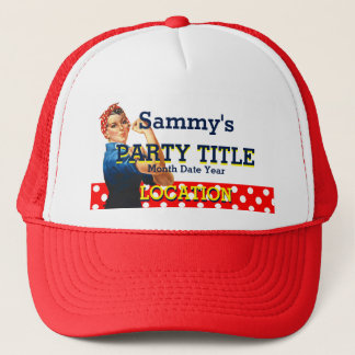 It's Your Personalized Rosie Party Style Trucker Hat