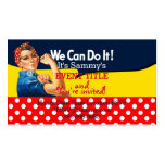 It's Your Personalized Rosie Party Supply Business Card