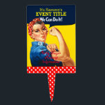 """It&#39;s Your Personalized Rosie Party Supply Cake Topper<br><div class=""""desc"""">The iconic figure Rosie The Riveter retro vintage style classic headline to suit any festive occasions. This one of a kind custom party supply is ready to personalize with your own text. Just edit the text fields you find on this product page or use the &quot;Customize it!&quot; button to reveal...</div>"""