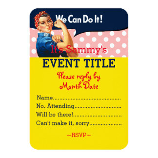 It's Your Personalized Rosie Party Supply Card