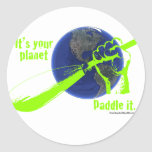 IT'S YOUR PLANET - PADDLE IT! ROUND STICKERS