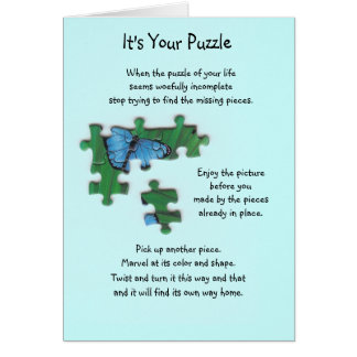 It's Your Puzzle Card (Butterfly)