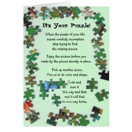 It's Your Puzzle! Card with Pieces