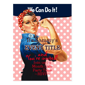 It's Your Rosie Party 12 lines 2 sided custom Postcard