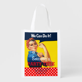 It's Your Rosie Party Branding Personalize it Reusable Grocery Bag